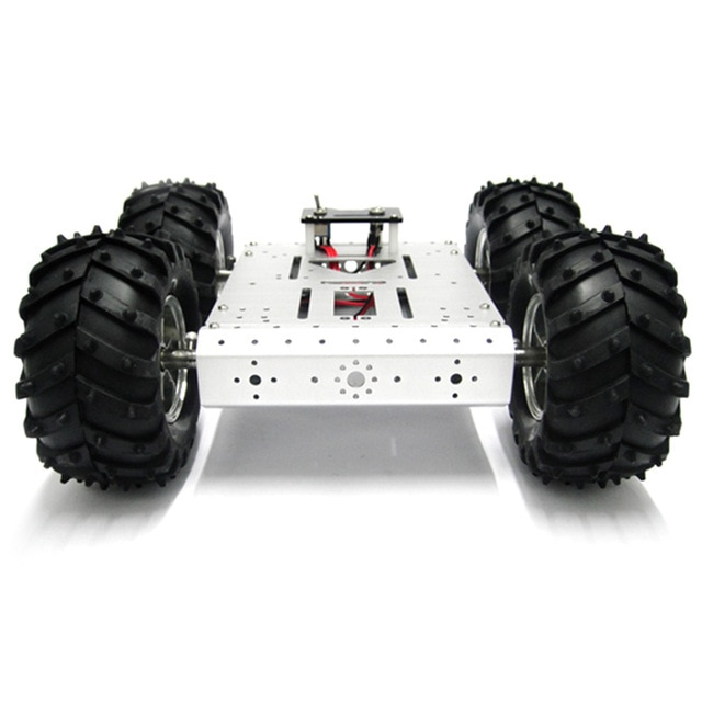 Metal 4WD Smart Robot Car Chassis For Arduino With 85mm Wheel 4 Wheels Car
